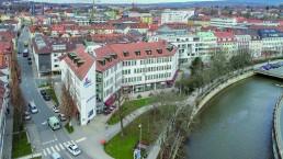 Mainstrasse Drohnenaufnahme