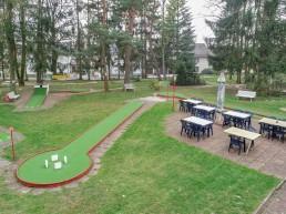 Bayreuth Freizeit Minigolf Luftbildaufnahme