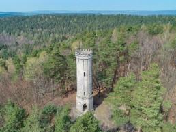 Siegesturm Bayreuth Luftbildaufnahme