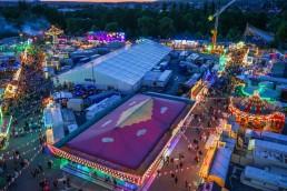 bayreuth feste volksfest luftbild