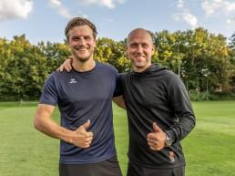 Timo Rost (re.) freut sich über die Verpflichtung von Markus Einsiedler.