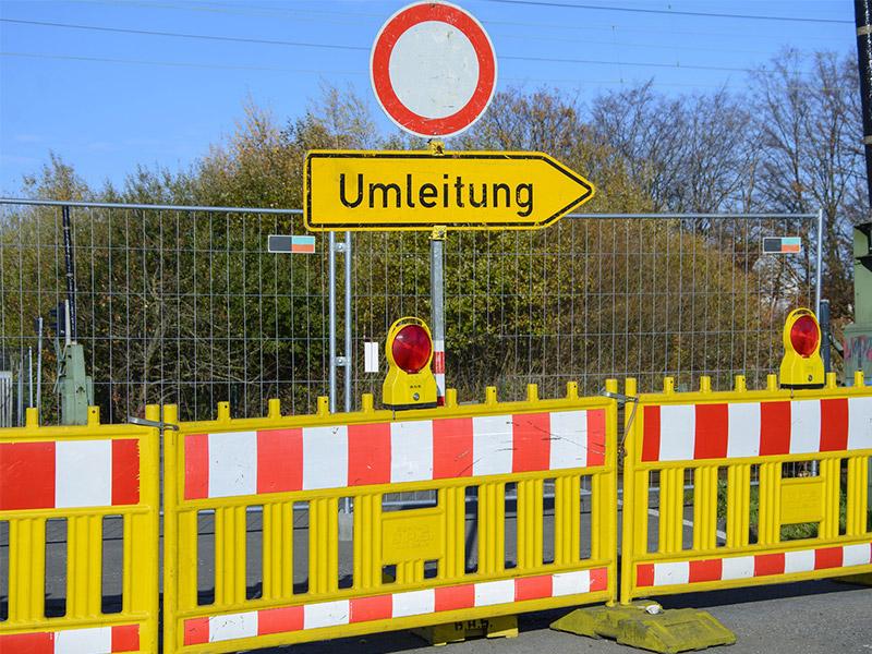 Nachrichten Bayreuth: Straßensperrungen im Stadtgebiet
