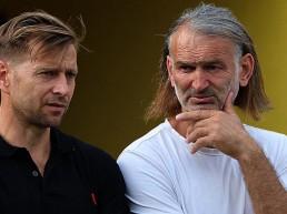 Marcel Rozgonyi (li.) und Tomislav Piplica im Gespräch.