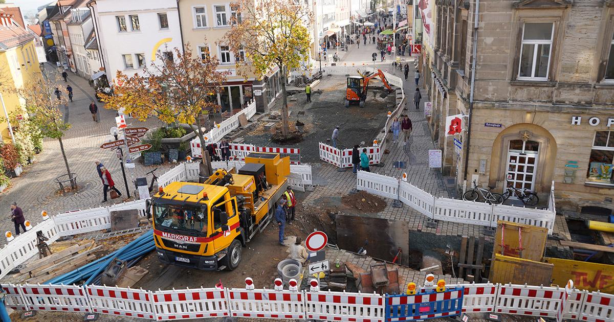 Nachrichten Bayreuth: Umgestaltung der Fußgängerzone