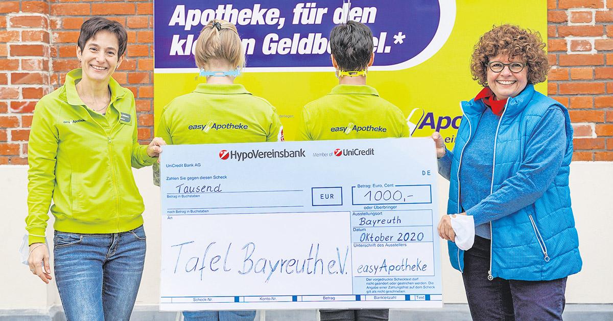 Nachrichten Bayreuth: easyApotheke spendet 1.000 Euro