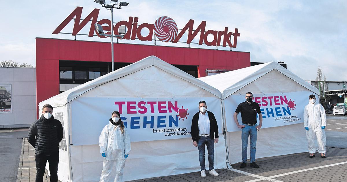 Corona-Virus in Bayreuth: Testen direkt auf dem Parkplatz